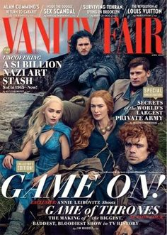 'Game of Thrones' Cast Covers 'Vanity Fair' in Full Costume!: Photo The cast of Game of Thrones - Emilia Clarke, Kit Harington, Nikolaj Coster-Waldau, Lena Headey, and Peter Dinklage - grace the cover of Vanity Fair's April Game Of Thrones Besetzung, Game Of Thrones Cover, Game Of Thrones Ending, Game Of Thrones Saison, Game Of Thrones Posters, Game Of Thrones Magazine, Ava Gardner, Kit Harington, Mixtape