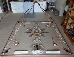 copper pyramid  - sacred geometry