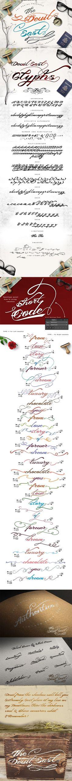 Hand Lettering Fonts, Typography Fonts, Script Fonts, Vintage Fonts, Vintage Typography, Romantic Fonts, Professional Fonts, Graffiti Font, Retro Font