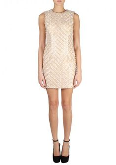 Jovani | Short Cocktail Dress Peach | A unique sexy cocktail dress, features intricate boxed patterned beading with pearl accents. A great short dress for any occasion.