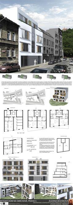 Studentský projekt. LS 2013/2014. FSv ČVUT v Praze. Praha, Multi Story Building, Floor Plans, Floor Plan Drawing, House Floor Plans