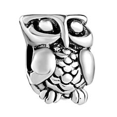 Charms Beads - harry potter fan owl brands fit &  silver plated beads charms bracelets all Image. #Owl #Jewelry