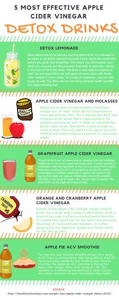 5 Most Effective Apple Cider Vinegar Detox Drinks