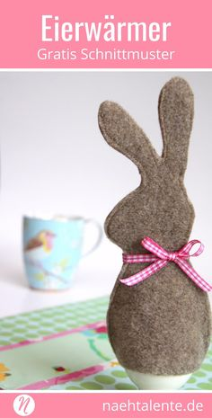 Easter Bunny egg warmer sew with the instructions - Quick, Easy, Cheap and Free DIY Crafts Sewing Hacks, Sewing Tutorials, Sewing Projects, Sewing Patterns, Sewing Tips, Handmade Felt, Handmade Crafts, Tissu Harry Potter, Easter Bunny Eggs