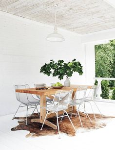 a very dreamy dining room