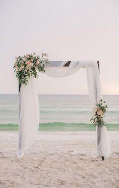 Simple beach wedding decor wedding arch 20 Charming Beach Wedding Arches You'll Love Wedding Arch Flowers, Beach Flowers, Wedding Ceremony Arch, Beach Ceremony, Beach Wedding Arches, Florida Flowers, Wedding Church, Wedding Pergola, Wedding Receptions