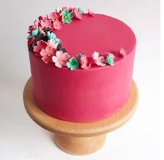 birthday cake floral
