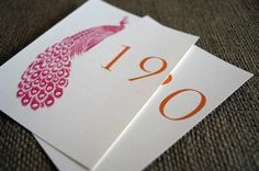 peacock table cards