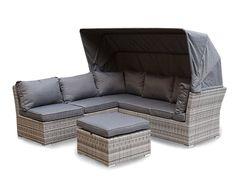 Strandkorb Lounge Palma Cabrio Sofa Alu Geflecht 5tlg. grau | Gartenmöbel | Garten & Freizeit | hausratplus
