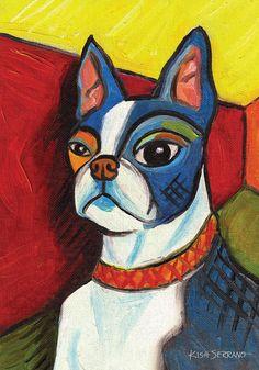 Toland Home Garden 112641 Pawcasso Boston Terrier Decorative Garden Flag, 12.5 by 18-Inch