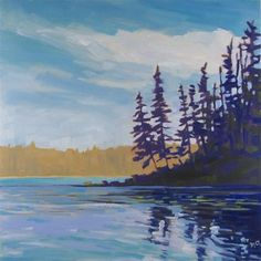 """Daily Paintworks - """"Hanging Heart Lake"""" - Original Fine Art for Sale - © Nicki Ault"""