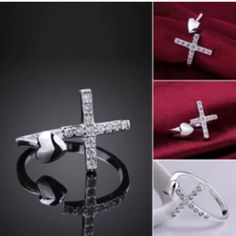 New open cross heart ring New open heart cross ring still in manufactures plastic Jewelry Rings