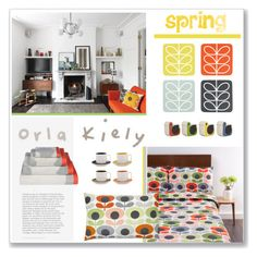 """Spring home"" by pumsiks ❤ liked on Polyvore featuring interior, interiors, interior design, home, home decor, interior decorating, Orla Kiely, contestentry, orla and springflorals"