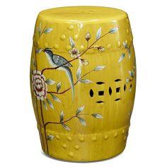 Porcelain Garden Stool: