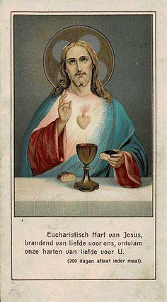 Vintage Holy Cards, Jesus Christ Images, Precious Gift, Heart Of Jesus, Blessed Mother, Roman Catholic, Sacred Heart, Religious Art, Sacramento