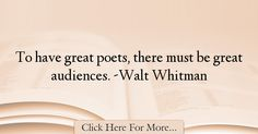 Walt Whitman Quotes About Poetry - 53922 Read More http://www.trendquotes.com/walt-whitman-quotes-about-poetry-53922/