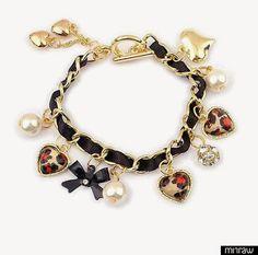 Leopard  heart bracelet