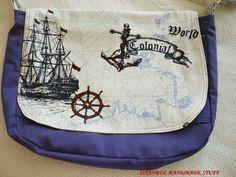 Captain Jack Sparrow  Comes-Nautical Messenger bag by dreamhouse1