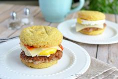 Craving that Egg McMuffin? Make a low carb version with our Sausage, Egg & Cheese Keto Sandwich Recipe. Perfect for any weekend breakfast!