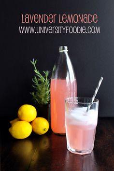 Lavender Lemonade | universityfoodie.com