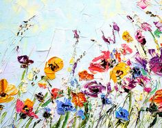 Abstract Flower Painting Custom Oil Painting Flowers Palette