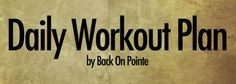 10 minute workouts for every day of the week! Ok, now to actually do it...
