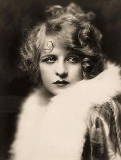 Ziegfeld girl in a fur collar, circa the 1920's.