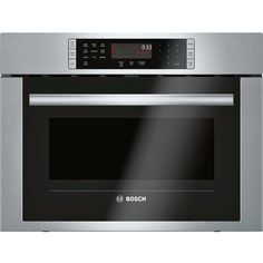 Bosch 500 ft Built-In Microwave with Sensor Cooking Controls and Speed Cook (Stainless Steel) at Lowe's. The Bosch speed oven is an upgrade over the standard microwave oven. The 24 In. speed oven pairs the cooking qualities of a conventional oven with the Convection Cooking, Oven Cooking, Built In Microwave, Microwave Oven, Kitchenaid, Single Wall Oven, Electric Wall Oven, Smeg, Stainless Steel Oven