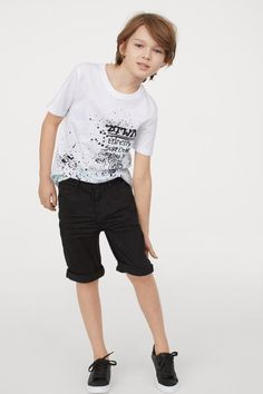 T-shirt in soft cotton jersey with a printed design at front. Cute White Boys, Cute Little Boys, Cute Teenage Boys, Cute Boys, Boys Summer Outfits, Toddler Boy Outfits, Kids Outfits, Cute Blonde Boys, Boys Designer Clothes