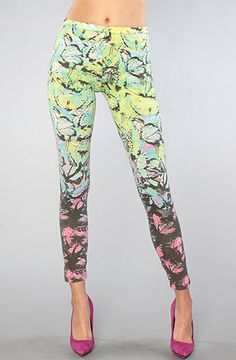$40 Motel The Tropical Butterfly Legging on #karmaloop  -- Use repcode SMARTCANUCKS at the checkout for 20% your order on karmaloop.com -- http://lovekarmaloop.com
