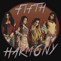 FIFTH HARMONY NEW ERA CIRCLE. THIS ARTWORK AVAILABLE ON UNISEX T-SHIRT, PHONE CASE, STICKER, AND 20 OTHER PRODUCTS. GET YOURS HARMONIZERS!