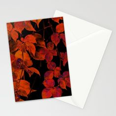 It's Fall II Stationery Cards by aRTsKRATCHES | Society6