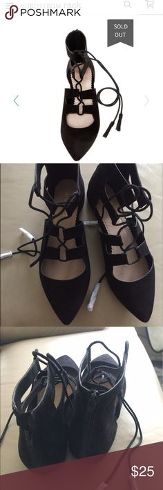 NIB restricted lace up flats 8.5 New in box black lace up flats from restricted sold out currently on Nordstrom rack very cute year round and can be worn in multiple ways size 8.5 can fit an 8 as well Restricted Shoes Flats & Loafers