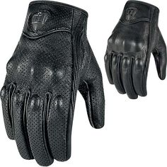 Icon Pursuit Touchscreen Leather Gloves - All Colors