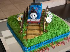 The tracks and the fence idea  -vsl    Birthday cake- Thomas the train