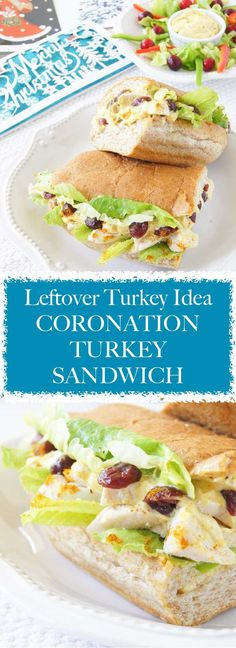 Coronation Turkey Sandwich recipe is a 10 min, curry spin on turkey leftovers, which will refresh the flavour and make it interesting again. Turkey Leftovers, Leftover Turkey, Leftovers Recipes, Turkey Steak Recipes, Sandwich Fillers, Garlic Chicken Recipes, Turkey Sandwiches, Thanksgiving Recipes, Spin