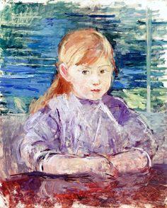Little Girl in Mauve Berthe Morisot (1883)