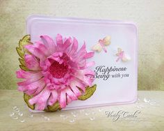 Card created with the Cut Mat Create dies and the Enchanted Mums from Heartfelt Creations. Made by Liz Walker