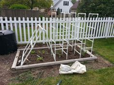 PVC Tomato Cages 3 Tomato Cages and 1 Cucumber Trellis Tomato Trellis, Cucumber Trellis, Tomato Cages, Garden Trellis, Vegetable Planting Guide, Planting Vegetables, Veggies, Vege Garden Ideas, Garden Tips
