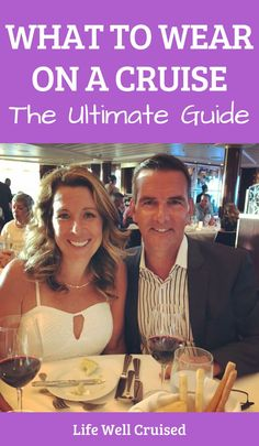 Everything you want to know about what to wear and how to dress if you're going on a cruise. The ultimate guide to what you need to pack for a cruise and how to dress on formal nights, port days and cruise sea days. A  must for families and new cruisers! #cruiseoutfits #cruisewear #whattowearcruise #cruisetips #cruiseformalnights #cruiseclothes