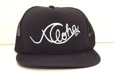 ALOHA WAVE  MESH Hat Handmade Trucker Hat Snapback Baseball Wave Stencil, Aloha Surf, Cute Hats, Surf Girls, Hat Sizes, Baby Hats, Baseball Cap, Sunnies, Snapback