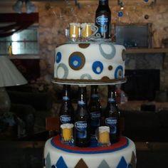 21st birthday beer cake