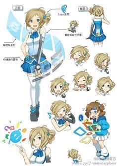 Japan has a cute girl as mascot of Internet Explorer