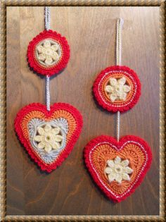Springtime_in_my_heart...Free crochet pattern for this hanging ornament!