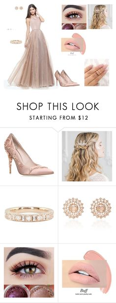 """""""Bridesmaid look"""" by lolareuter99 ❤ liked on Polyvore featuring Sherri Hill, RALPH & RUSSO, Luna Skye and Nam Cho"""