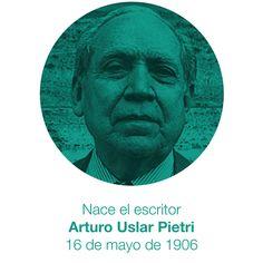 """Hoy se cumplen 110 años del nacimiento del escritor venezolano Arturo Uslar Pietri autor de """"Lanzas coloradas"""" (1931) y considerado uno de los mejores escritores de Venezuela. http://ift.tt/1V5ZoGZ"""
