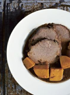 Pot Roast with Apples, Sweet Potatoes and Prunes | Edible Feast (from The Nourished Kitchen, by Jennifer McGruther)