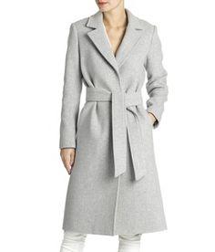 Manteau feutre gris femme