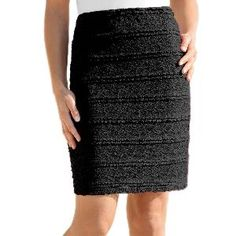 Blancheporte ravna suknja od podstavljene čipke