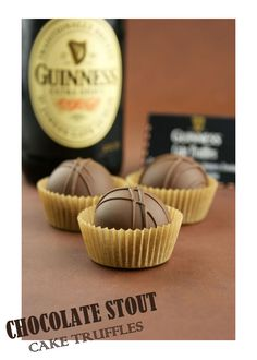 Guinness is used in the cake and the frosting. Then everything is combined together to form one pop-able, slightly bitter, chocolately, crea...